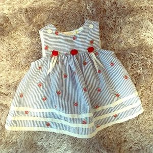 Other - Little Billy Stripes and Red Rose Baby Dress